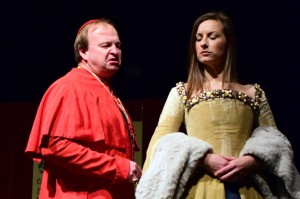 Cardinal Wolsey and Anne Boleyn disagree